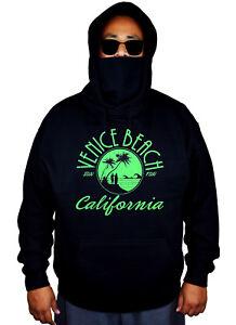 Men/'s Venice Beach Camo Raglan Sweatshirt California Ocean Surfing Sun Fun Cali