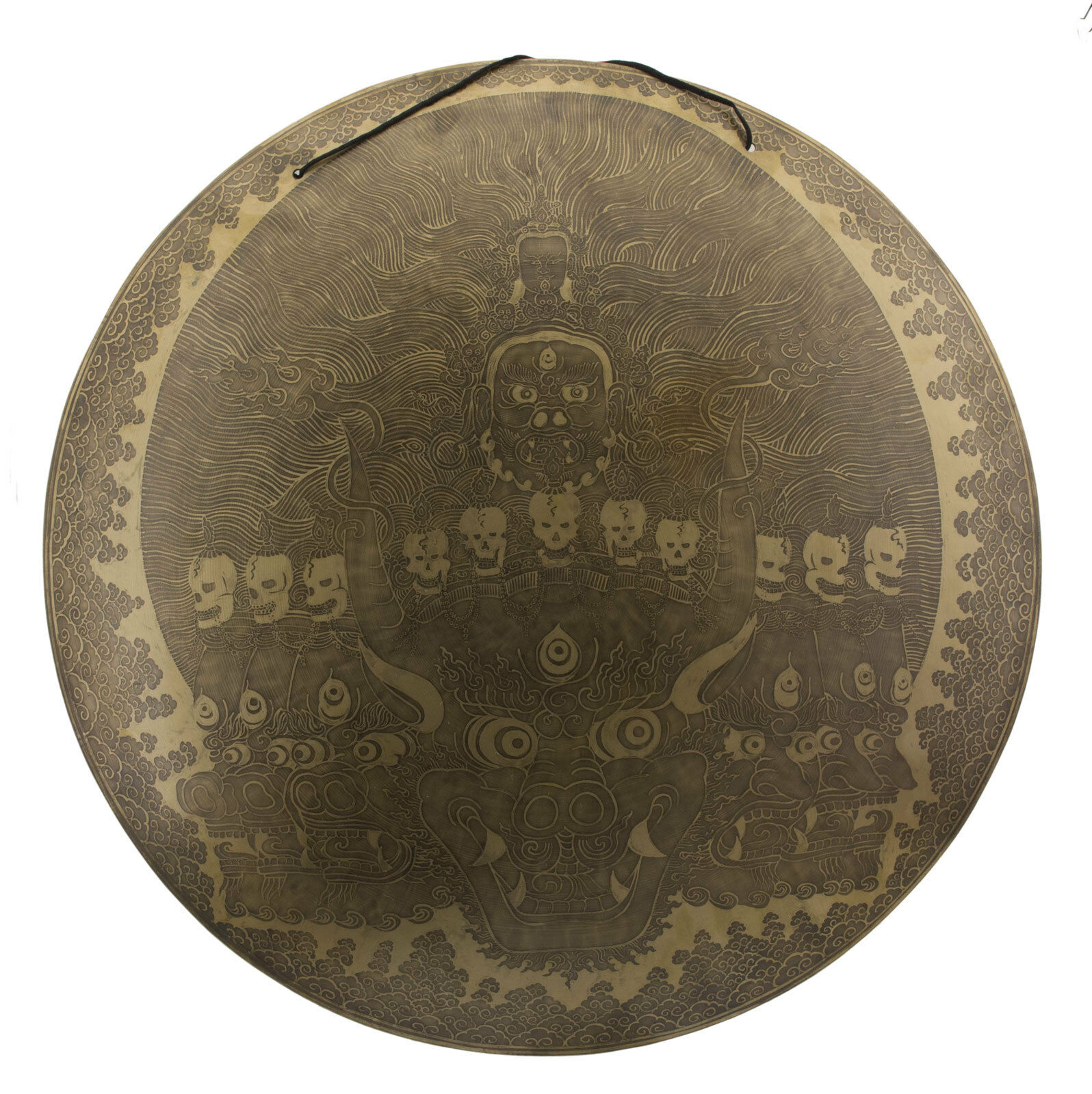 Gong TIBET- Yamantaka 7 Metall o 67 cm 5kg300 TIBET Nepal 25779 hg 3