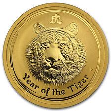 2010 1/2 oz Gold Lunar Year of the Tiger BU (Series II) - SKU #54860