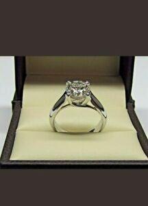 2-0Ct-Round-cut-Moissanite-Diamond-Engagement-Vintage-Ring-14K-White-Gold-Over