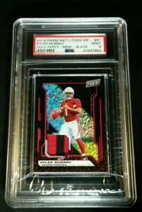 PSA 9 1/1 KYLER MURRAY RC JSY /10 BLACK SHIMMER PRIZM *SSP ROOKIE PATCH 2019 VIP