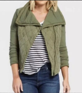 Anthropology-Marrakech-Womens-Olive-Green-Quilted-Phoebe-Jacket-Large-NWT