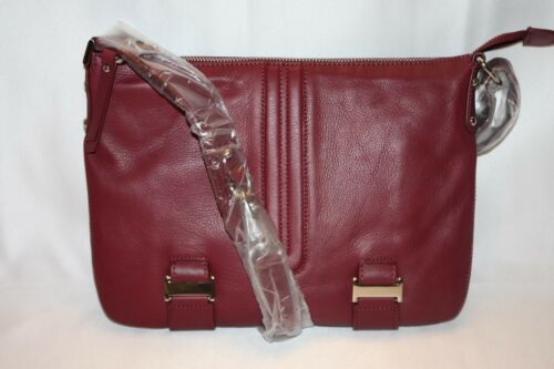 NEW NWT PERLINA Soft Merlot Burgundy Leather NORAH Crossbody Bag $198