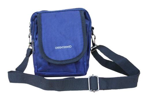 Mens Travel Shoulder Messenger Courier Travel Camera Money Black Day Pack Bag
