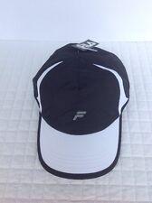 FILA Sport Unisex Hat Adjustable Cap Black/White Reflective Running/tennis/golf
