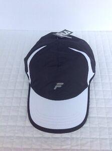 d4ec3d1c30c FILA Sport Unisex Hat Adjustable Cap Black White Reflective Running ...
