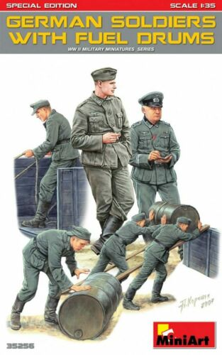 Special Edition MiniArt Models 1//35 German Soldiers w//Fuel Drums 6 figures