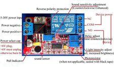 DC 5V 12V 24V Sound Sensor / Light Control Relay Switch Module Adjustable Delay