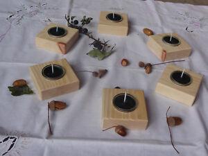2-Teelichthalter-Holz-Zirbe-Glas-Zirbenduft-Kerze-Weihnachten-Kerzenstaender