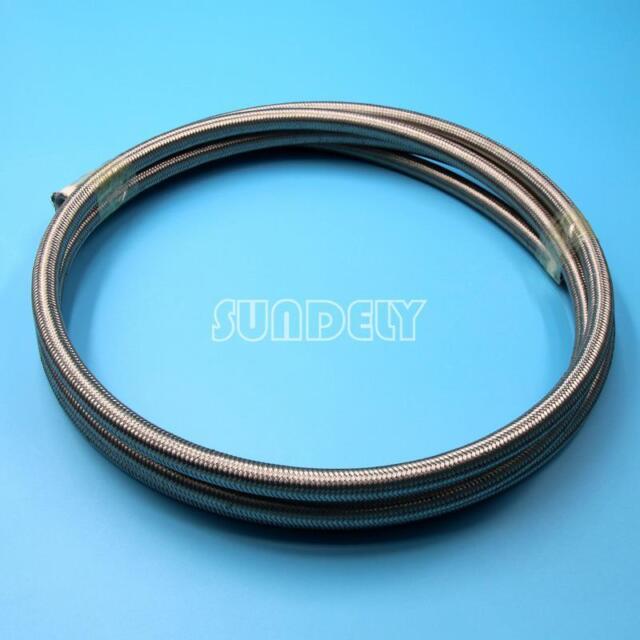 Stainless Steel Braided PTFE Teflon Fuel Hose Line Oil Petrol Hose ...