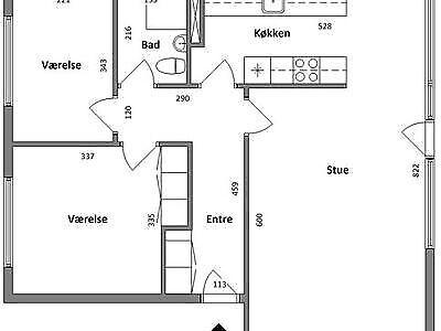 7700 vær. 3 lejlighed, m2 88, Havrevej