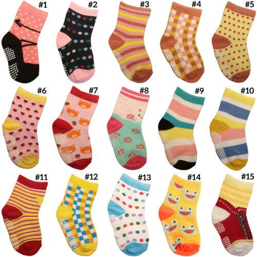 Mädchen ABS Anti Rutsch Socken Babysocken 12-24 Monate