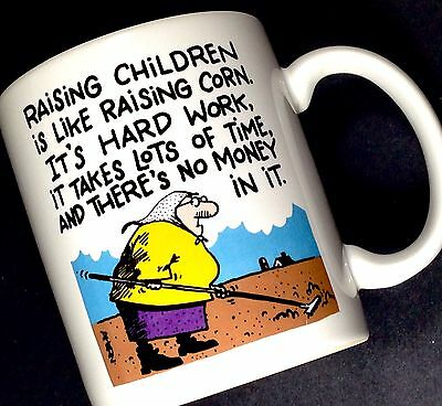 Raising Children Is Like Corn Hard Work No Money Funny Parenting Coffee Mug Cup
