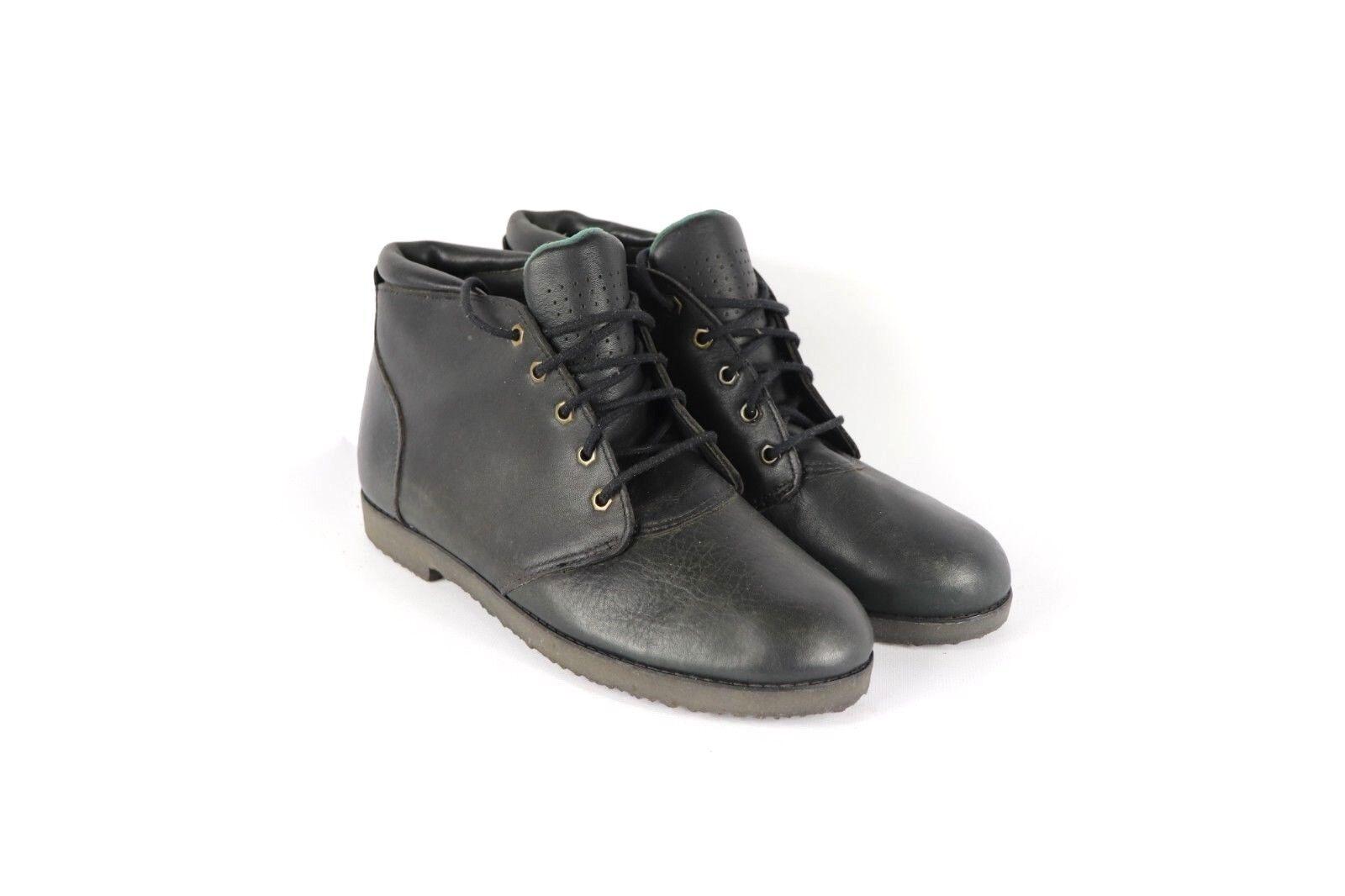 Nuevos Zapatos de ala roja Vintage para mujer 7.5 Cuero Con Cordones Chukka botas Negras Chukkas
