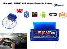 Mini OBD2 ELM327 V2.1 Android Bluetooth Scan Scanner Hyundai Honda Fiat ford BMW