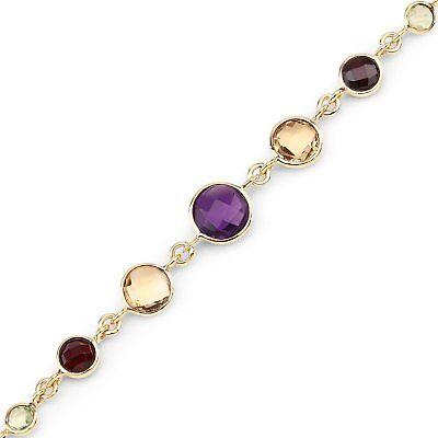 Delicious Armband/armbändchen-echte Amethyst,citrin,granat,peridot,blautopas-silber/gold Jewelry & Watches Fine Jewelry
