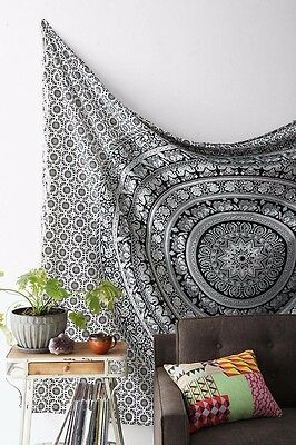 Indian Tapestry Wall Hanging Mandala Throw Hippie Twin Bedspread Gypsy Decor