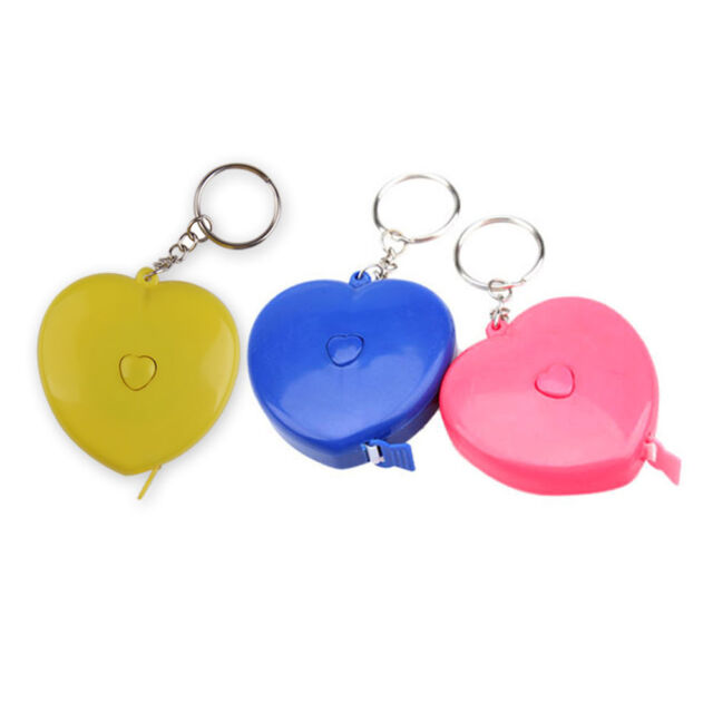 New Keychain Portable Heart-shaped Tape Measure 1.5M