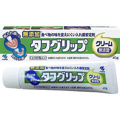 Kobayashi Tough grip cream denture stabilizer 40g additive-free Japan Free ship