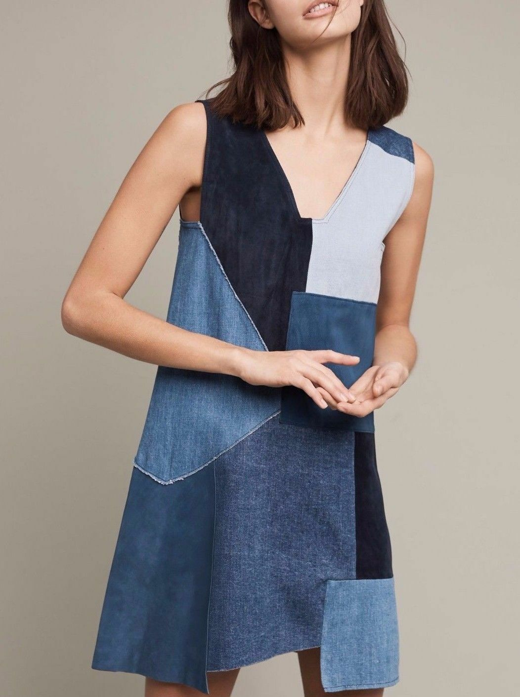 New Anthropologie MIH Patchwork Marten Dress  Sz S NWT