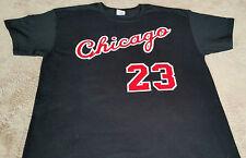 Chicago Bulls Michael Jordan Rookie year vtg style Jersey T-shirt Black or Red.