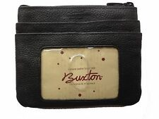 New Buxton Women's Large ID Coin Purse Card Case Wallet - Black