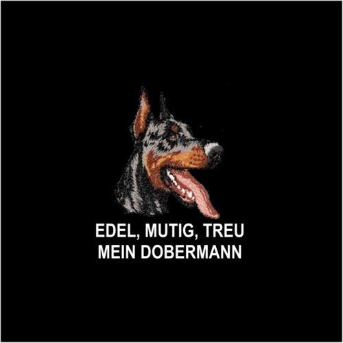 Fleecejacke Jacke DOBERMANN KUPIERT Stickerei by Siviwonder Hund
