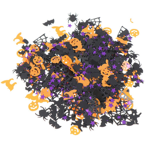15g Halloween Confetti Pumpkin Spider Witch Bats Confetti Sprinkle Table DecWP4