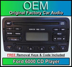 ford focus lettore cd radio nero 6000 autoradio chiavi di rimozione codice ebay. Black Bedroom Furniture Sets. Home Design Ideas