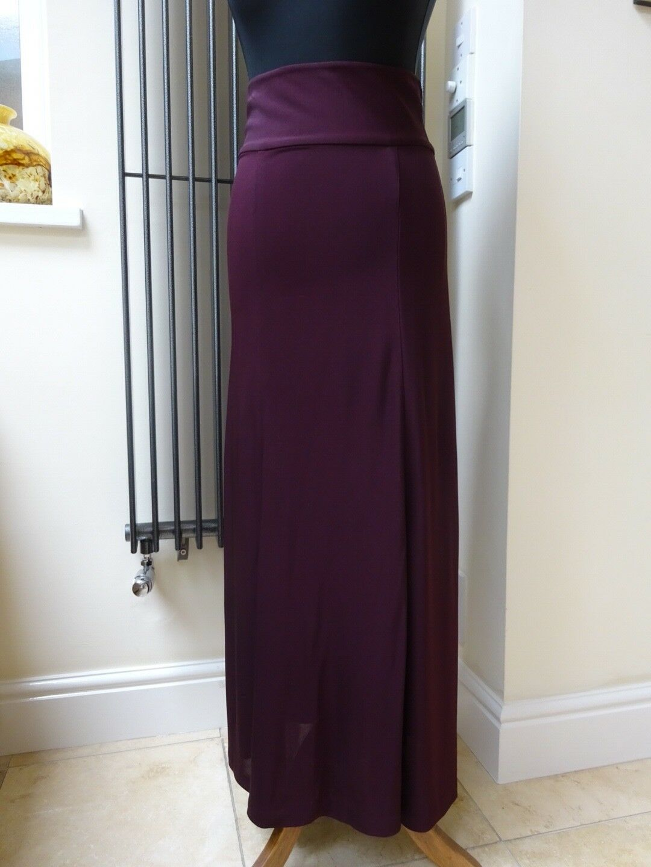 Ralph Lauren Ladies Long Plum Purple Evening Skirt Size 6 8 New with tag