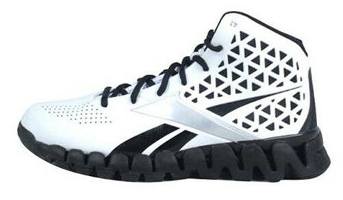 Reebok Herren Zick Slash Basketballschuhe Weiß Schwarz V43258 Sz 10.5 12