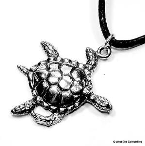 Sea-Turtle-Charm-Pendant-Necklace-UK-Made-Reptile-Tortoise-Conservation