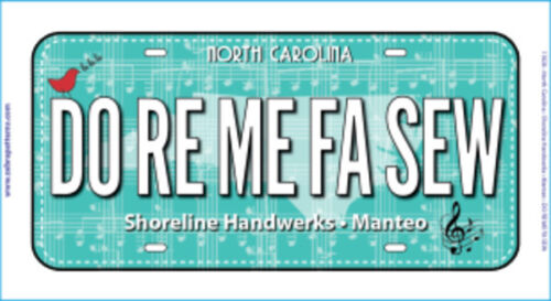 Row by Row 2018 Fabric License Plate from Manteo NC
