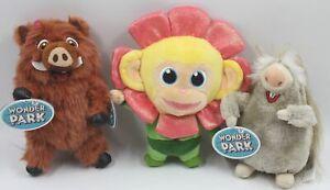 Wonder Park Movie Chimp Greta Steve Plush Figure Stuffed Toy Lot 3 New NWT