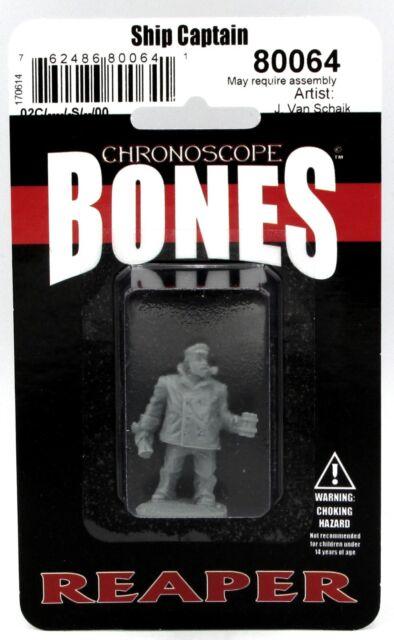 Reaper 80064 Ship Captain (Chronoscope Bones) Pulp Modern Sailor Officer Hero