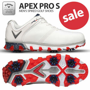 Callaway-Apex-Pro-S-Men-039-s-Golf-Shoes-White-Red-NEW-2020-REDUCED