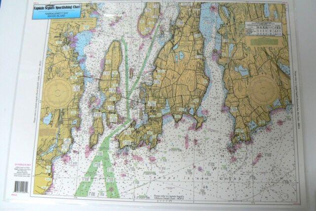 Sportfishing Chart Narragansett Bay Rhode Island Laminated Nb104 19 X 26 Online Ebay