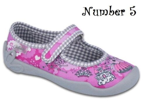 BEFADO Canvas girls shoes ballerinas slippers pumps 8-12 UK NEW KIDS CHILDREN