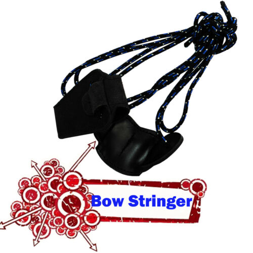 Archery Bow Stringer Recurve bow Assist Tool Longbow bowstringer Blue Color 1X