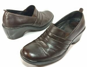 DANSKO-Brown-Soft-Leather-Casual-Slip-On-Clog-Comfort-Shoes-Womens-40-9-5-10
