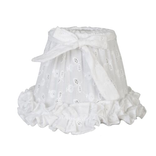 Clayre /& Fed abat-jour Blanc Nostalgie Maison de campagne de serrage abat-jour shabby chic