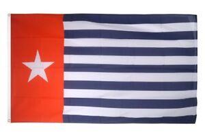 Drapeau West-Nouvelle-Guinée//Papouasie Occidentale Drapeau neuguineische Hissflagge 90x150cm
