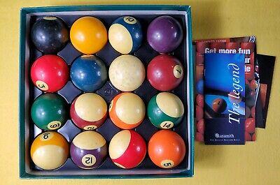 "VINTAGE ARAMITH BUMPER POOL BALLS Belgian billiards ball set 2-1//8/"" /'70s /'80s"