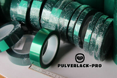 Pulverlack Klebeband hitzebeständiges Abdeckband 29 mm// 66 Meter bis +220°C