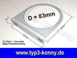 1-fach Halter / Konsole für 83mm Instrument / Gauges / ohne Pulverbeschichtung