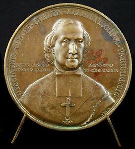 Medaglia-Arcivescovo-Hyacinthe-Louis-Della-Quelen-amp-Signora-di-Parigi-1840-Medal