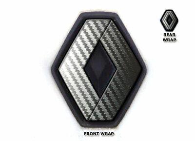 JCM Badge pour avant et arri/ère pour Renault Twingo II 2007 argent carbone 2011
