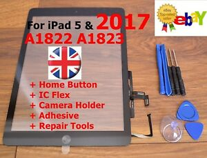 For-iPad-2017-5-AIR-A1822-A1823-BLACK-Touch-Screen-Digitizer-Glass-Replacement