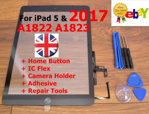 For iPad 2017 5 AIR A1822 A1823 BLACK Touch Screen Digitizer Glass Replacement