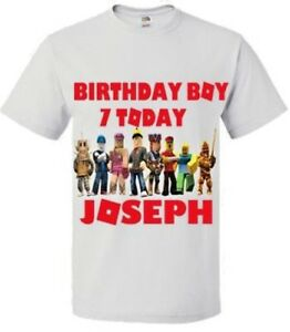 Image Is Loading Roblox Birthday T Shirt Personalised